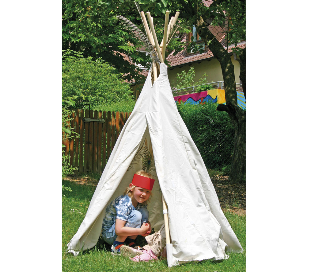 indianer tipi tippi zelt indianerzelt indianertipi kinderzelt wasserabweisend ebay. Black Bedroom Furniture Sets. Home Design Ideas