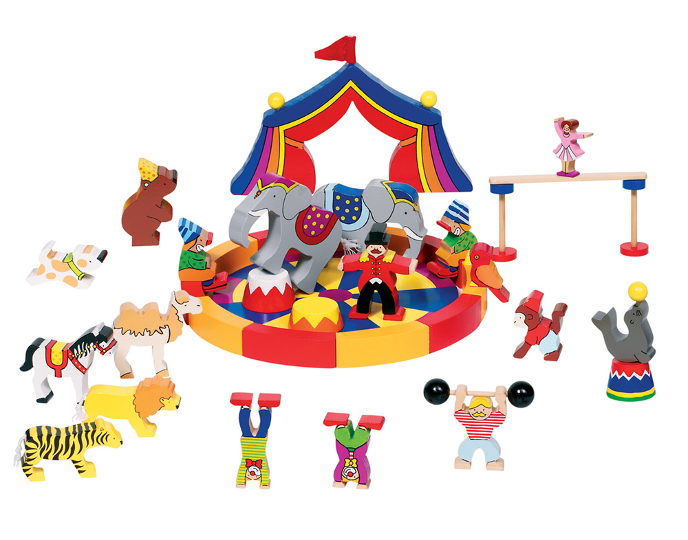mein kleiner zirkus zirkusmanege zirkuszelt holz tiere ebay. Black Bedroom Furniture Sets. Home Design Ideas