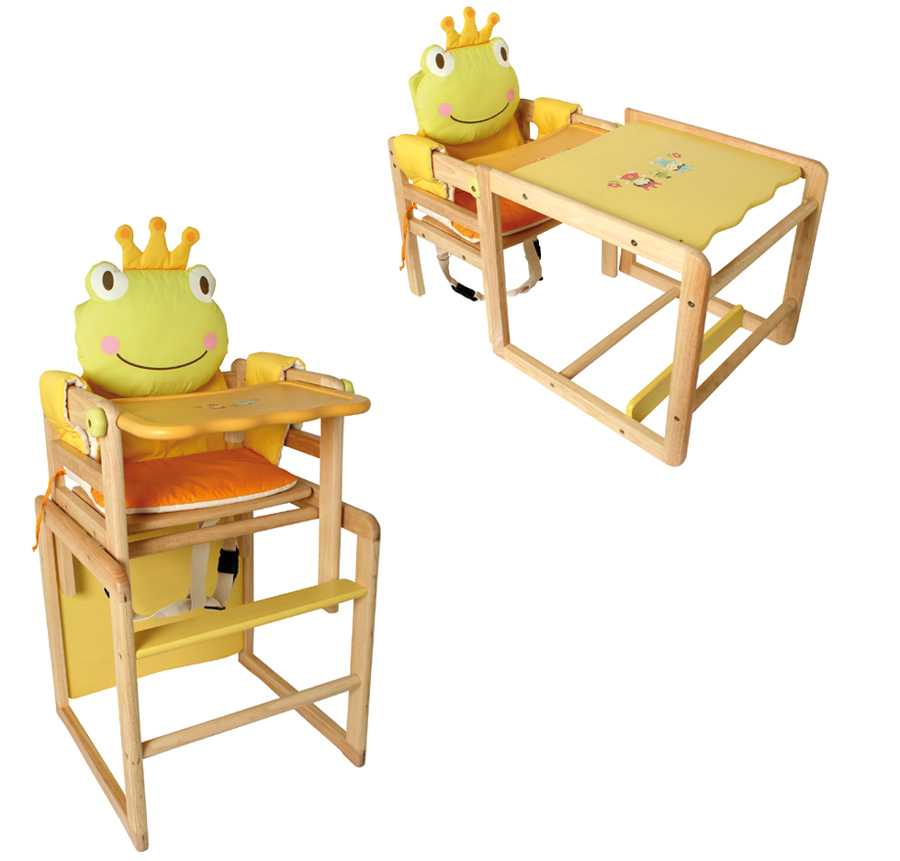 hochstuhl frosch kinderstuhl tisch umbaubar holz sitz ebay. Black Bedroom Furniture Sets. Home Design Ideas