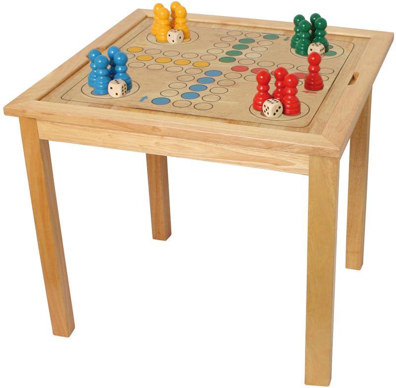 gro er spieltisch schach dame ludo mit spielfiguren und. Black Bedroom Furniture Sets. Home Design Ideas