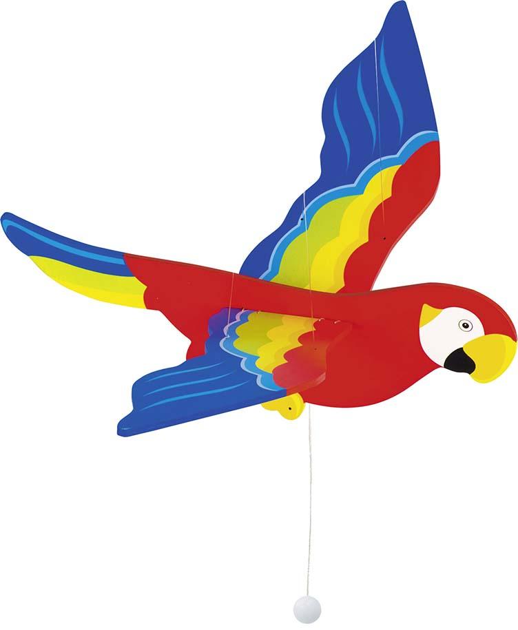 schwingtier papagei ara holz schwingpapagei schwingfigur. Black Bedroom Furniture Sets. Home Design Ideas